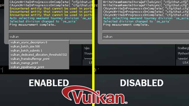 enable vulkan on dota 2 with quick test gaming pc builder