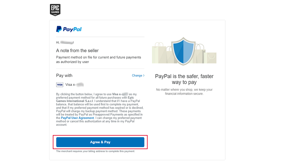 How to buy games on Epic Games using PayPal