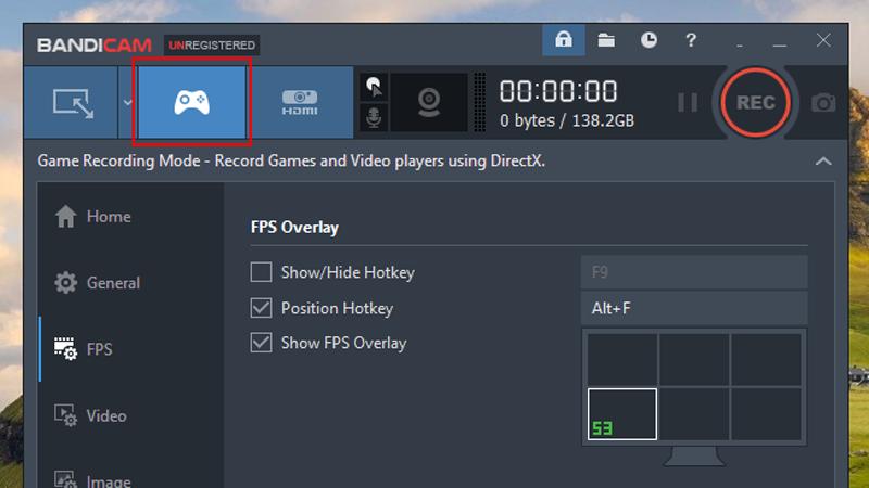 FPS Counter bandicam
