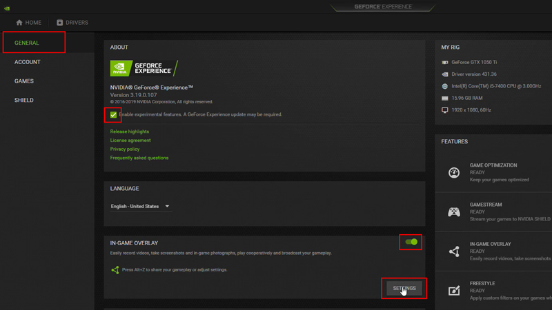 FPS Counter GeForce Experience