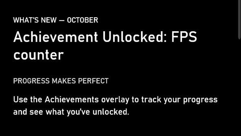 FPS Counter Windows Xbox Gamebar